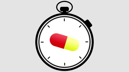 Stopwatch Medical Pill Turning