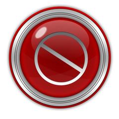 Ban circular icon on white background