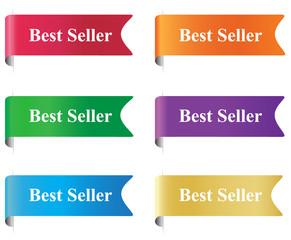 Best seller, flag, tag, label, badge, sign