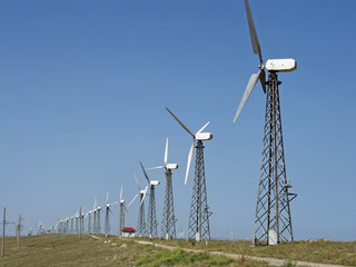 Wind turbines in the Crimea