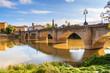 Leinwandbild Motiv Puente de Piedra (Stone bridge) in Logrono