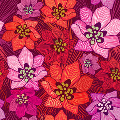 Floral background Flower pattern Floral seamless texture flowers