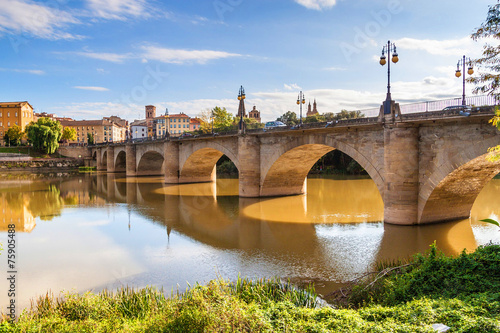 Puente de Piedra (Stone bridge) in Logrono - 75905488