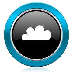 cloud glossy icon waether forecast sign