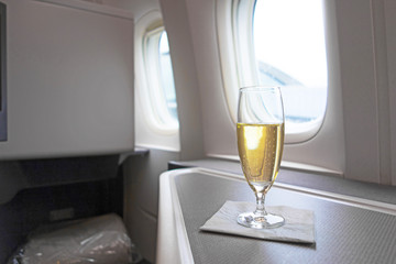 Luxury glass of vintage Champagne
