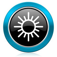 sun glossy icon waether forecast sign