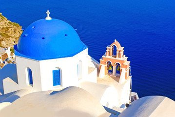 Traditional architecture on Santorini island, Greece