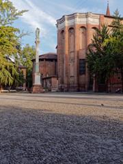 Cityscape of Piazza San Domenico Bologna Italy