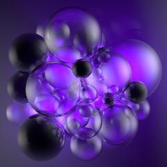 Seifenblasen lila