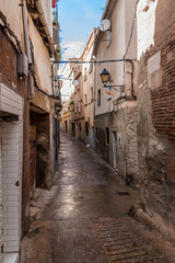 Narrow alley in town Calahorra