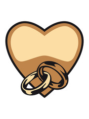 Marriage rings heart happiness