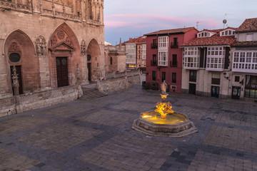 Santa Maria square in Burgos