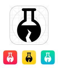 Broken florence bulb icon. Vector illustration.