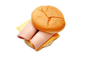 Bologna and Cheese on a Bun