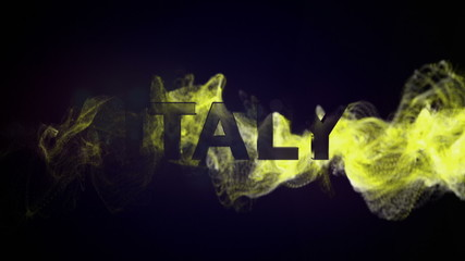 ITALY Gold Text and Particles