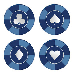 Poker chips set. Vector illustration
