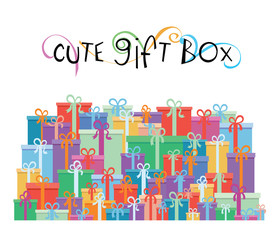 Gift boxes for your promotion design - vector illustration