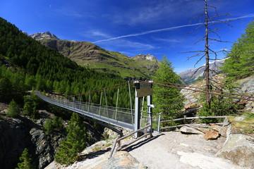 Schweiz - Zermatt - Hängebrücke