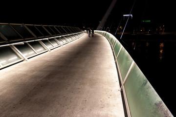 Pedestrian bridge over Ebro river in Zaragoza