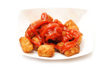 Tator Tots Smothered in Castusp