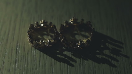 Two small crown of light effects