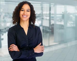 Beautiful hispanic business woman.