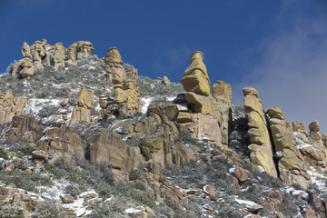 Mt. Lemmon Hoodoos Touched with Light Snow