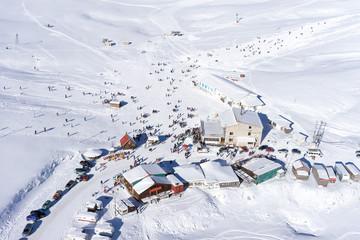 Aerial View of Ski Resort Falakro, in Greece.