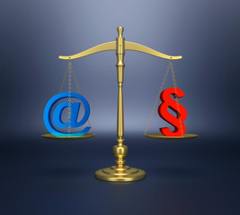 Internetrecht Waage