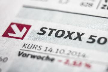 Eurostoxx Recession Macro Concept