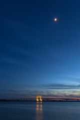 月明かりの浜名湖