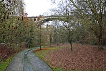 Petrusse Valley. Luxembourg city