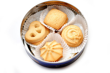 A Cookie Tin with Butter Cookies