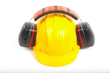 Helmet and headphones