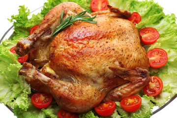 Baked chicken for festive dinner