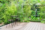 Black chair in the garden for ralex - 75912013