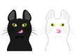 舌なめずりする猫の顔