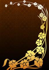 Çiçekli kompozisyon  (altın)
