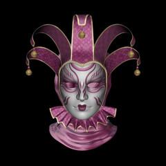 Carnival Mask on black background.