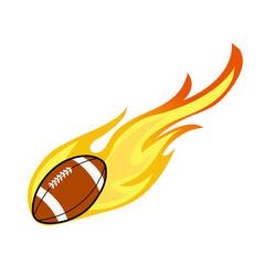 American football on fire