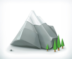 Mountain, vector icon