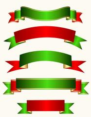 Ribbon banner christmas