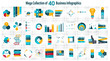 Zdjęcia na płótnie, fototapety, obrazy : Collection of 40 Infographic Templates for Business Vector Illus