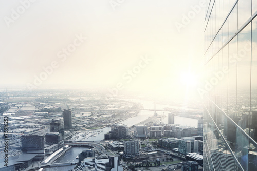 canvas print picture Modern city view