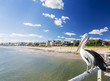 Pelican at a jetty in beachside suburb of Adelaide - 75917499
