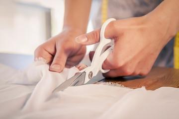 Woman making patterns