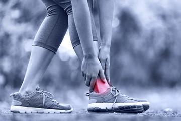 Broken twisted ankle - running sport injury