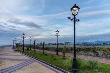 promenade with lanterns