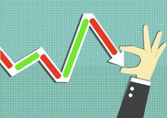 decrease stock