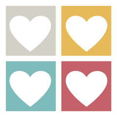 Heart Love Passion Friendship Family Icon Vector Concept
